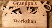 Personalized Gifts - Toolbox Shaped Wooden Engraved Sign - Birthday, Retirement