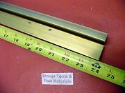 2 Pieces 1/2 X 1 C360 Brass Flat Bar 24 Long Solid .50 Mill Stock H02