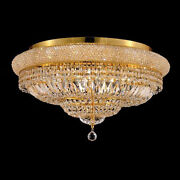 New Crystal Chandelier Primo Gold 28x13