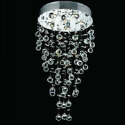 New Crystal Chandelier Cosmos Chrome 6 Lights 18x32