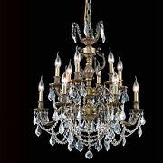 New Crystal Chandelier Marseille Antique 12 Lts 24x30