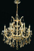 New Crystal Chandelier Maria Theresa Gold 13 Lts 27x26