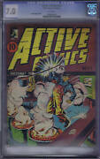 Active Comics 24 Bell Features Pub. Cgc 7.0 Rare Canadian Edition