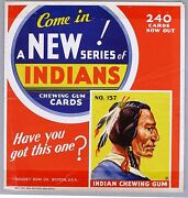 1933 Card R73 Goudey Indian Gum Store Window Display Card 157 Depicted
