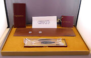 Parker Vintage 1980and039s Classic Walnut Ball Pen And Pencil Desk --new Old Stock
