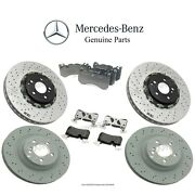 For Mercedes W219 Cls63 Amg 07-11 Genuine Front And Rear Brake Kit Rotors And Pads
