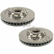 For Porsche Cayenne Pair Set Of Front Left And Right Vented Disc Brake Rotors Oem