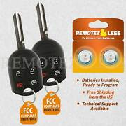 2 Replacement For Ford F-150 250 350 450 Super Duty Keyless Remote Car Key Fob