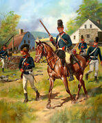 16th Queenand039s Light Dragoons 1777-1778 Don Troiani Revolutionary War Canvas