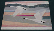 Alison Daniels Snowgeese 1989 Poster Print Front Line Graphics Goose