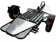 New Folding Single Rail Motorcycle Trailer Used For Harley Honda Gold Wing