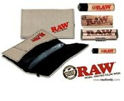 Raw Smokers Pouch Wallet Bundle Rolling Papers79mm Roller Machine + 2 Lighters