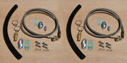 -4an -4 An Twin Turbo Oil Feed Lines Braided Install T3t4 To4e Drain Kit Pair Ss