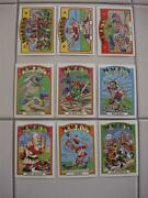 2013 Wacky Packages Old School 4 1972 Style Baseball Insert Set Of 9