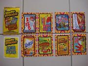 2014 Wacky Packages Series 1 Ans 12 Set All Eight Hobby Exclusive Bonus Cards