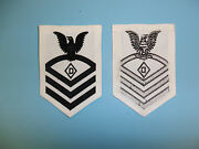 0927 Us Navy Coast Guard Ww 2 Chief Petty Officer Dog Handler Rate White