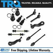 Trq 12 Pc Kit Front Lh Rh Ball Joint Tie Rod End Sway Bar Link Pitman Idler Arm