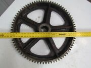 25-7/8 Vintage Industrial Iron Gear Sprocket Lamp Base Table Top Steampunk