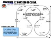 Bachmann Ho Horseshoe Curve Ez Track Pack Silver Gray 7.25and039 X 8and039 Layout New