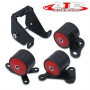 D To B Series Red Solid Bushing Motor Mount Conversion For 1996-2000 Civic Ek