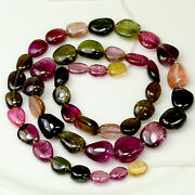 232.2ct Large Multi Color Tourmaline Smooth Nugget Beads 20 Strand