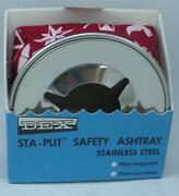 Aqua Meter Ash Tray Red Windproof Stainless Steel Weighted Bean Bag 20548