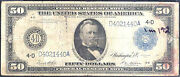 1914 50 Federal Reserve Note -cleveland-rare
