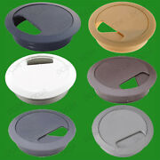 20x 80mm Computer Desk Grommet Table Cable Tidy Surface Port Wire Hole Cover