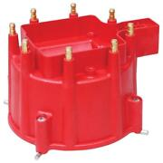 Msd Distributor Cap 84111 Pro-billet Red Hei Male For Chevy V8