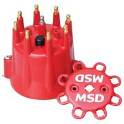 Msd Distributor Cap 8433 Extra Duty Red Hei Male For Sbc 396-454/502 Bbc