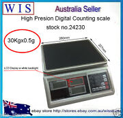 Precision Digital Tabletop Weighing And Counting Scale 30kg X 0.5g,one Year Wty