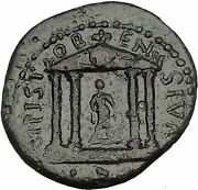 Trajan 98ad Stobi In Macedonia Temple With Statue Rare Ancient Roman Coin I52408