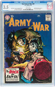 Our Army At War 81 Cgc 3.5 Dc 1959 Sgt. Rock Prototype White Pages E5 124 Cm