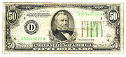 1934 50 Cleveland, Ohio Star Federal Reserve Note, Low Serial Number, Rare