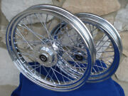 19x2.50 Front And 16x3 40 Spoke Rear Wheel For Harley Dyna Sportster