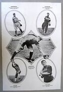 1913 Salesman's Swatch Page W/vintage Baseball Photos Cubs, White Sox, Reds