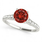 1.26 Ct Fancy Red Diamond Solitaire Ring Beauty 14k Gold Valentine Day Spl.sale
