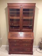 Secretary Desk And Hutch From Late 1880's Antique Furniture Heirloom Piece