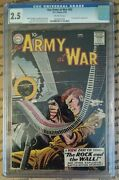 Our Army At War 83 Cgc 2.5 Dc 1959 1st True Sgt. Rock Scarce E7 232 Cm