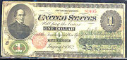 1862 1 United State Note-legal Tender-fr17a
