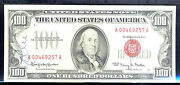 1966 100 United State Note /red Seal -fr1550