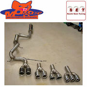 Mongoose Ford Focus St250 Mk3 Cat Back 3 With Twin 4 Carbon Tail Pipes