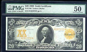 1906 20 Gold Certificate -fr 1186-rare In Pmg 50 Au- But Common In Pcgs
