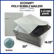 1-2100 7 14.25x20 Ecoswift Poly Bubble Mailer Padded Envelope Bags 14.25 X 20