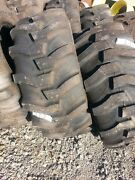 Two New 17.5lx24 R4 Kubota John Deere Farm Tractor Tires