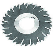10 X 1/4 X 1-1/2 Hss Metal Slitting Saw With Staggered Side Teeth