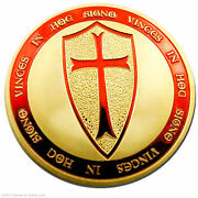 50 Fifty Exclusive Troy Oz Knights Templar Coin 24k Gold Layered Art Coin Lot