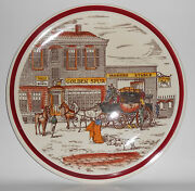 Vernon Kilns Pottery Bits Of Old England Chop Plate