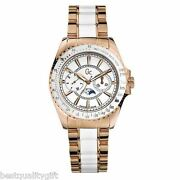 New Gc Guess Collection Rose Gold S/steel+white Multi Watch-i53000m1-msr650