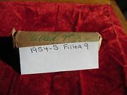 1954 S Lincoln Cent Roll Error Coins Filled 9 In Date 50 Circulated Cents